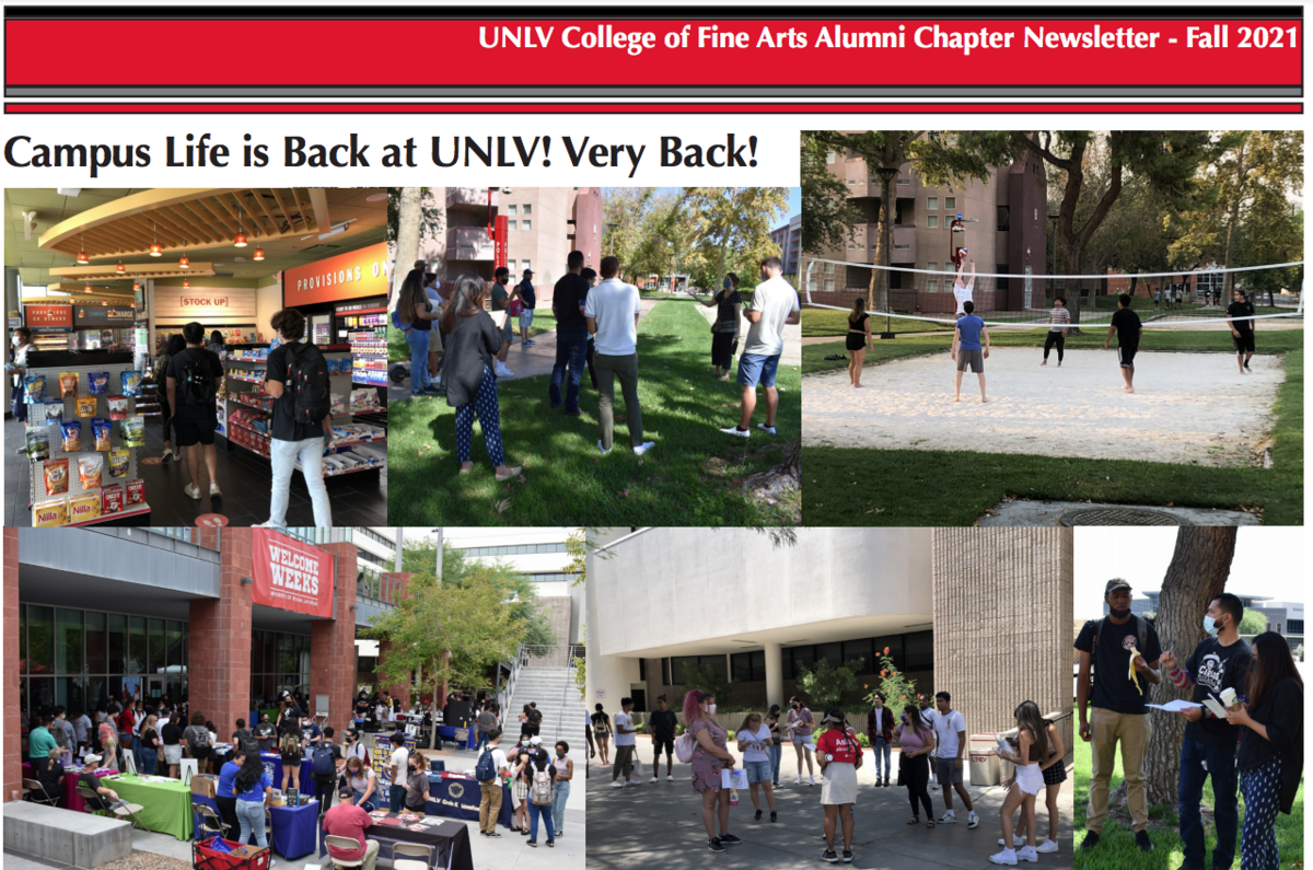 Campus Life Is Back - Photos of students at UNLV