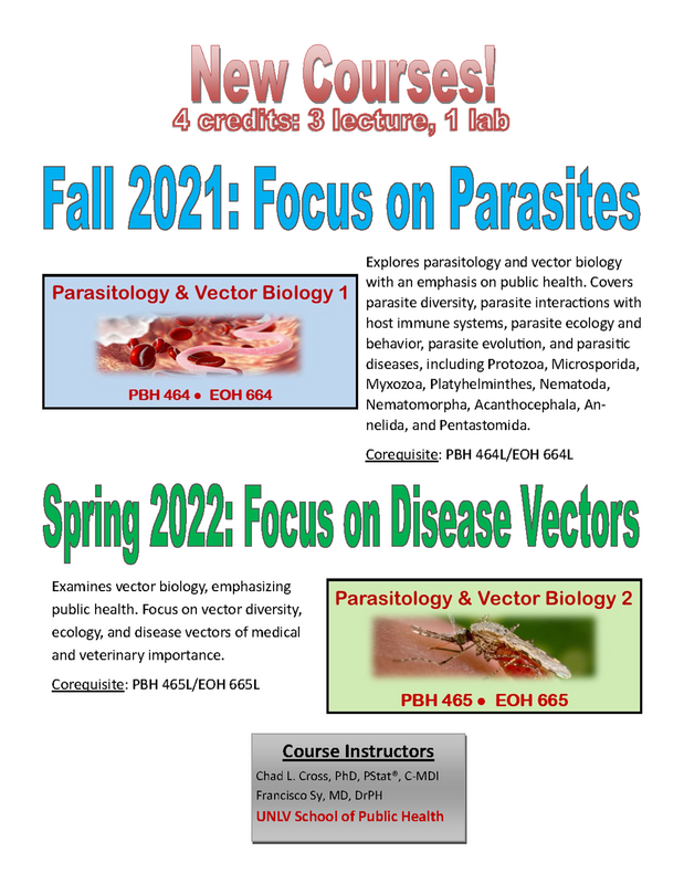 Unlv Spring 2022 Calendar.New Course Offerings Parasitology Vector Biology College Of Sciences University Of Nevada Las Vegas