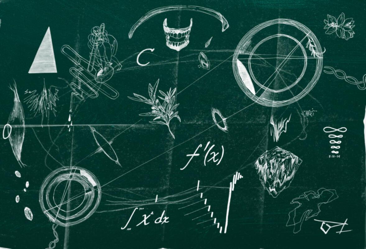 Chalkboard sketch by Tiffany Lin