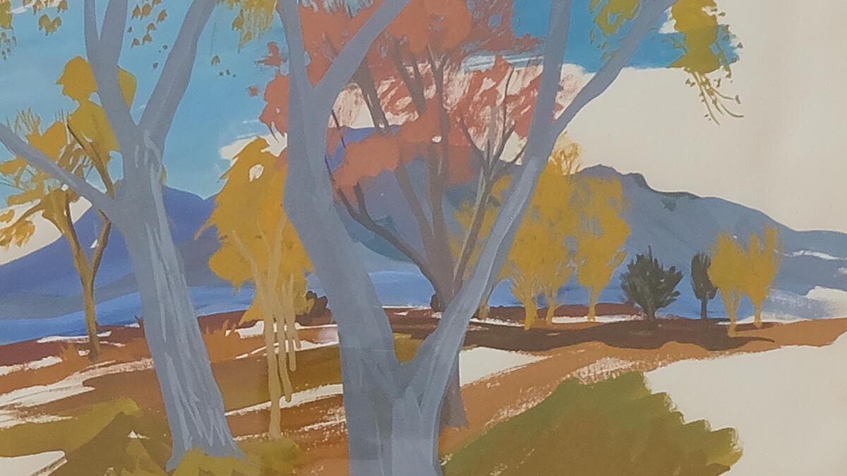 Mary Cady Johnson. Trees in Las Vegas, 1957. (Detail)