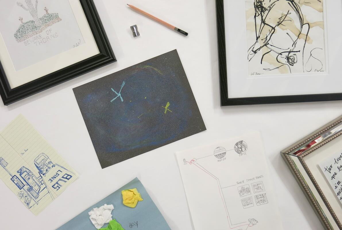 Works from the exhibition A Drawing A Day
