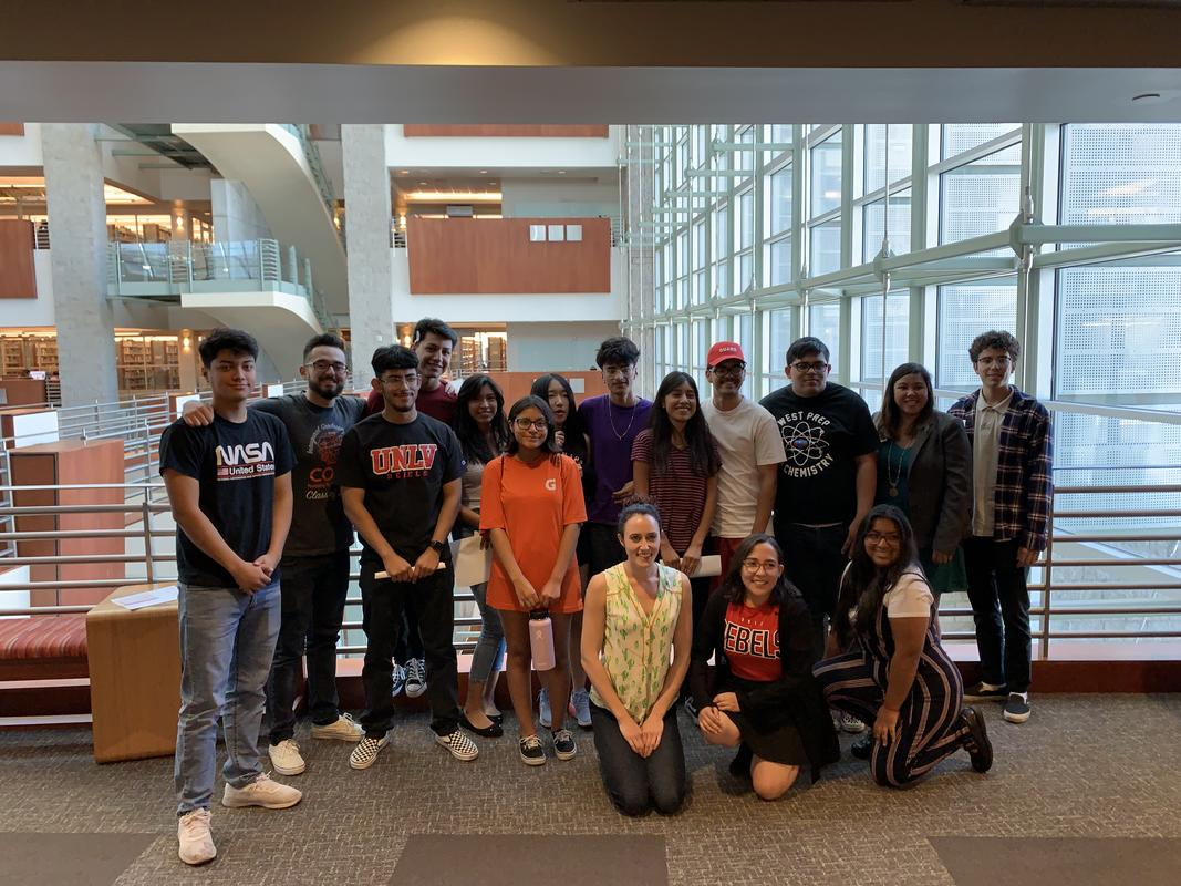 Students from the inaugural 2019 YES Club meeting
