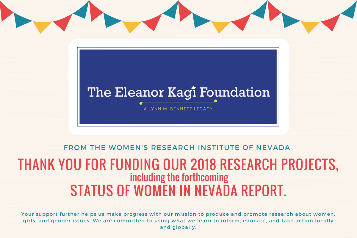Eleanor Kagi Foundation, WRIN, Status of Women in Nevada Report, Women's Research Institute of Nevada
