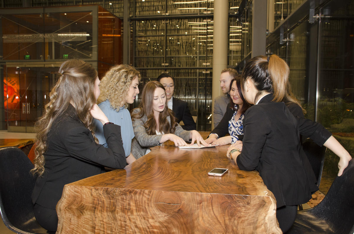 MBA students meeting as a group