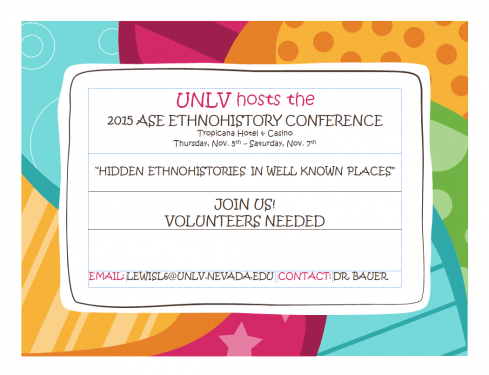 UNLV History Department hosts annual ASE Ethnohistory Conference
