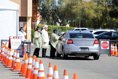 UNLV Medicine curbside clinic