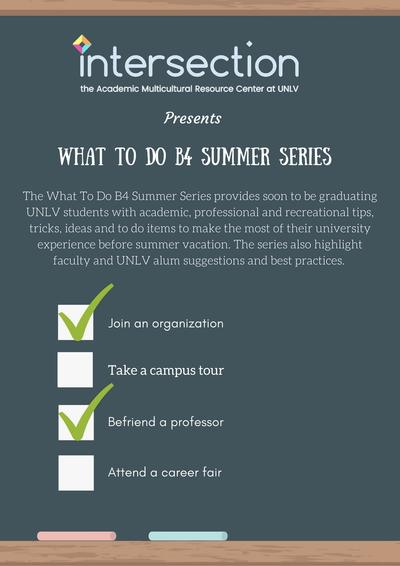 What to Do B4 Summer Series poster