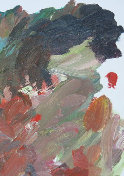 Gig DePio, Untitled Palette (detail), 2014, Oil on canvas board