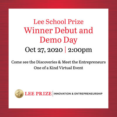 Lee School Prize Winner Debut and Demo Day Oct. 27, 2020 at 2 p.m.