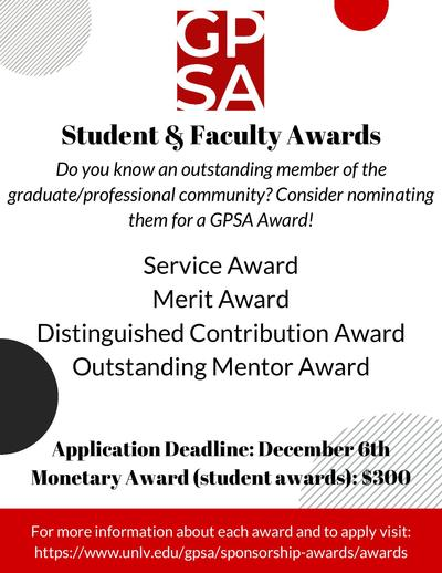 GPSA Student and Faculty Awards