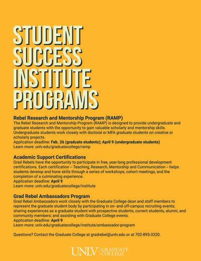Professional Development Opportunities   Graduate & Professional ...