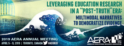 AERA Annual Meeting Branding featuring this year's theme, Leveraging Education Research in a