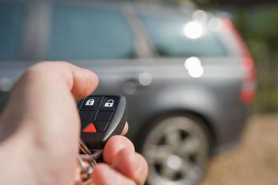 Locking car with key fob