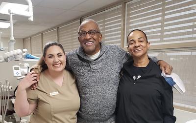 Colette Fuglaar (left) with Lamonte and Brenda