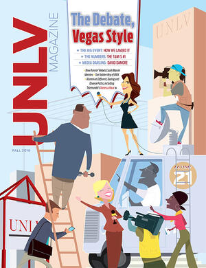 Magazine cover featuring The Debate, Vegas Style story
