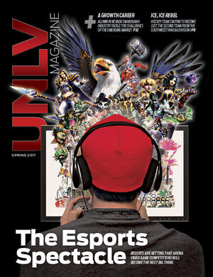 Magazine cover featuring The Esports Spectacle story