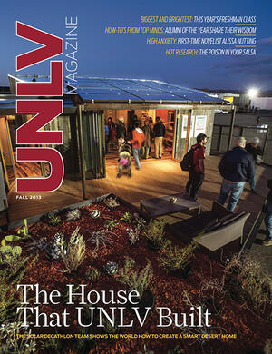 Magazine cover featuring The House UNLV Built story