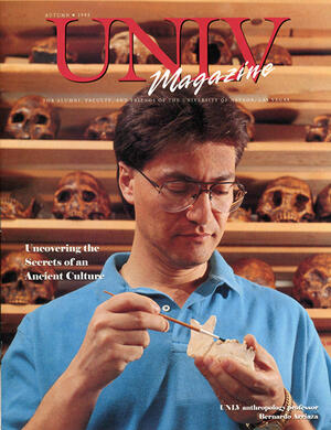 Magazine cover featuring Uncovering the Secrets of an Ancient Culture story