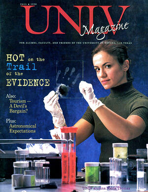 Magazine cover featuring Hot on the Trail of the Evidence story