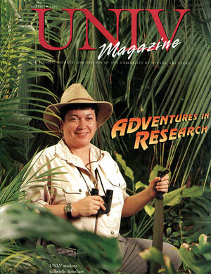 Magazine cover featuring Adventures in Research story