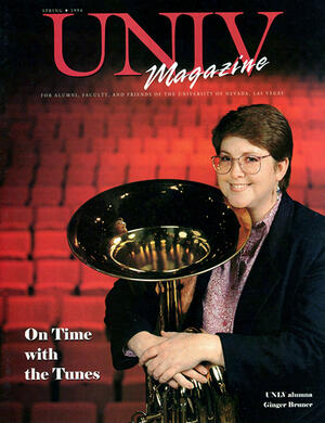 Magazine cover featuring On Time with the Tunes story