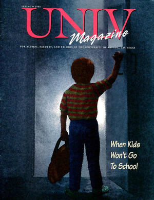 Magazine cover featuring When Kids Won't Go to School story