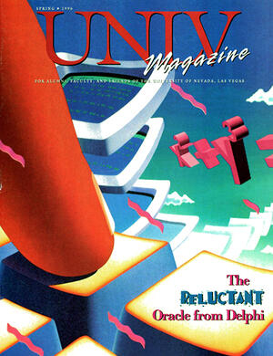 Magazine cover featuring The Reluctant Oracle from Delphi story