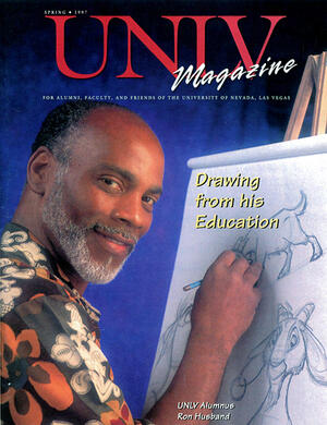 Magazine cover featuring Drawing from the Education story