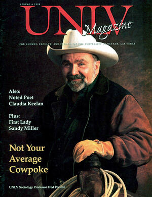 Magazine cover featuring Not Your Average Cowpoke story