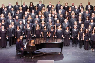 UNLV Choirs on the concert hall stage.