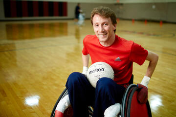 Bradley Boe ready to play wheelchair rugby