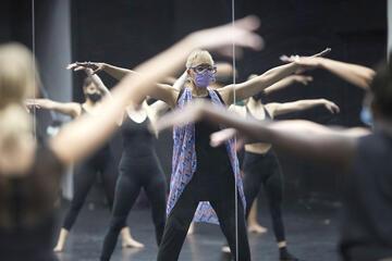 dance instructor in class
