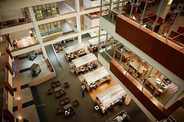 library interior study spaces