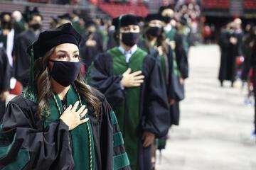 line of graduates in regalia