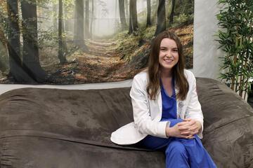 woman in doctor's coat