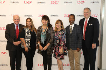 Group Portrait of Leaders from UNLV and San Manuel Band of Mission Indians
