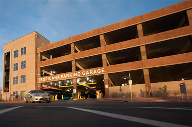 Tropicana Parking Garage Photo