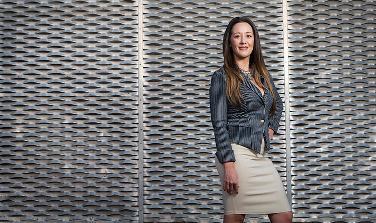 Amy Lee Finchem, '09 BS Architecture, is founder of COLAB, a nonprofit organization that promotes public art and design projects. (Aaron Mayes/UNLV Photo Services)