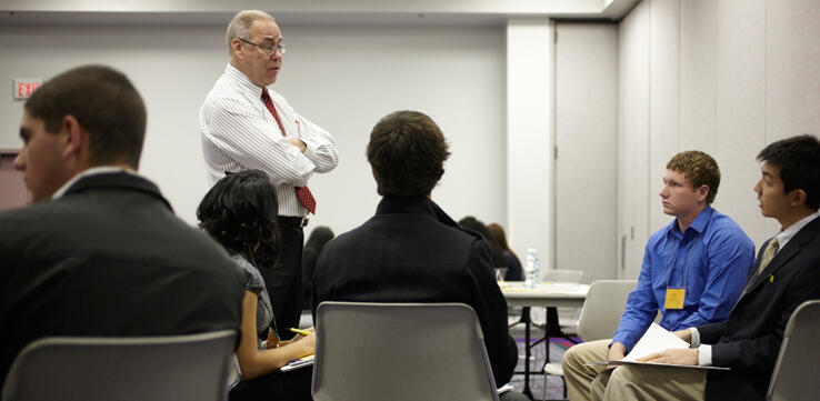 UNLV President lectures to students