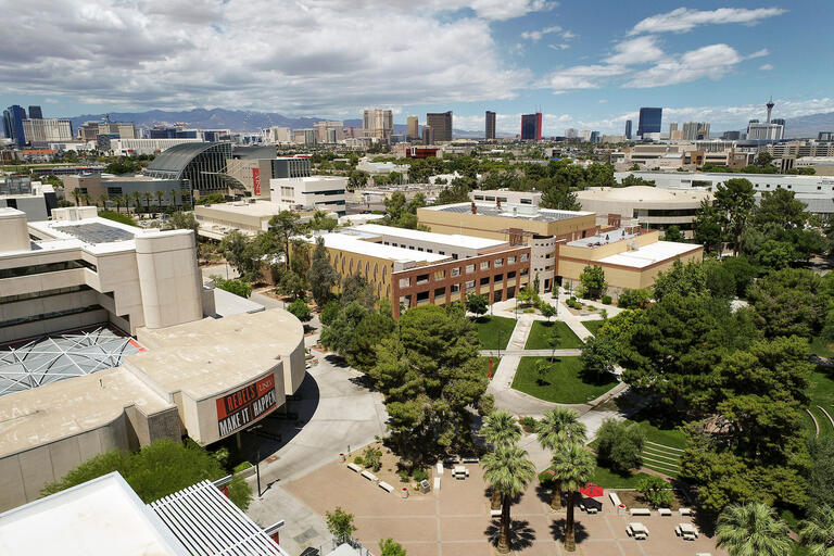 UNLV campus with city in background