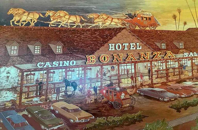 sketch of western-themed hotel