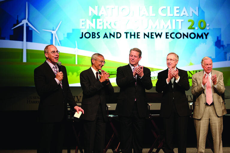 Picture of speakers at Clean Energy Summit
