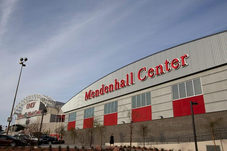 A daytime shot of the Mendenhall Center, the practice facility for the Runnin' Rebels basketball team.