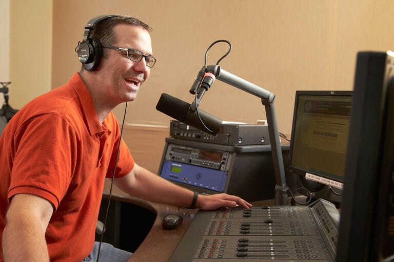 General Manager Frank Mueller on air