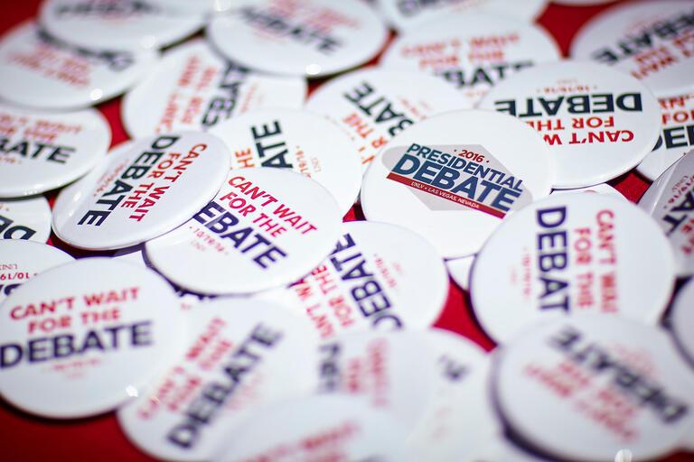 2016 Debate pins