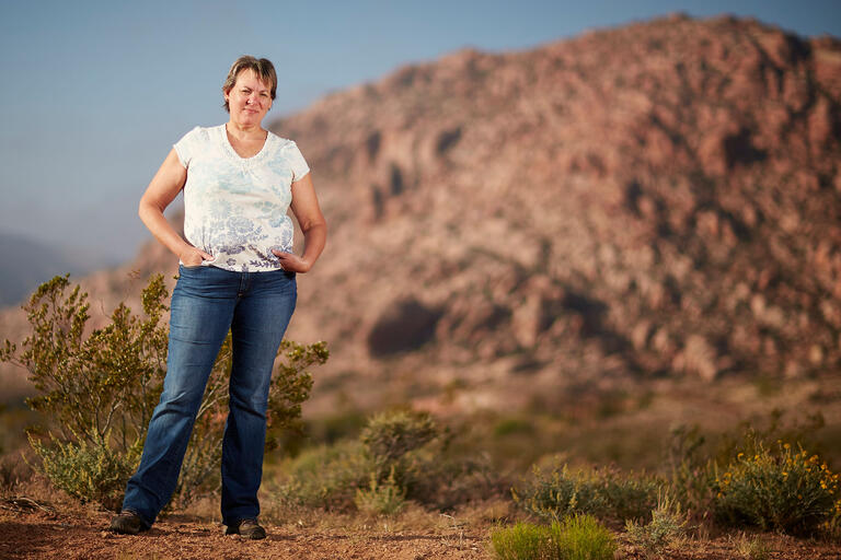 Erika Schumacher at Red Rock Canyon
