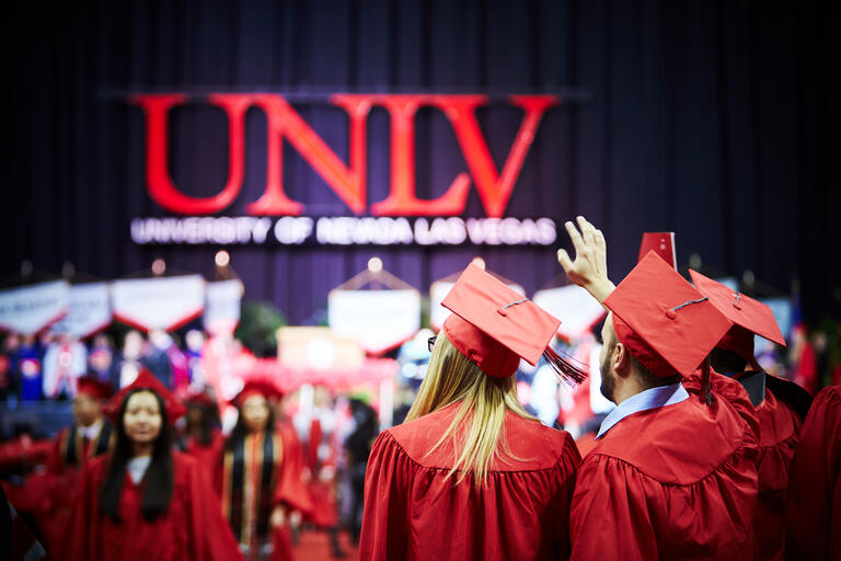 UNLV students at commencement