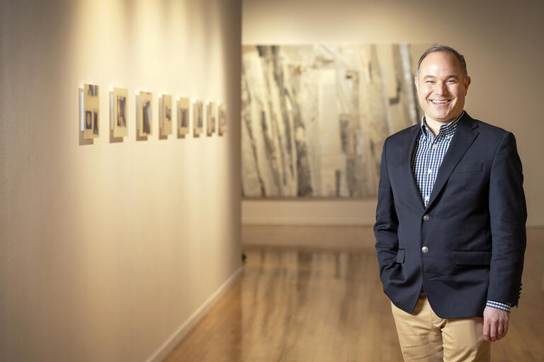 Portrait of Marcus Civin, new chair of art department