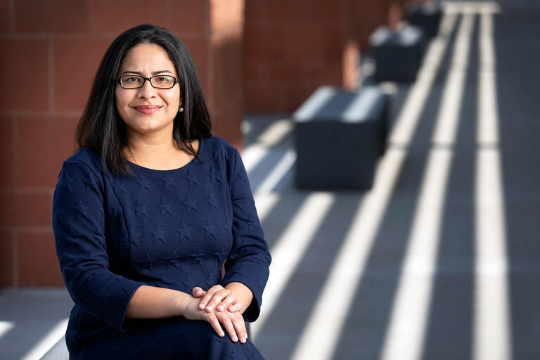 Dharini BHammar, an assistant professor in the department of kinesiology and nutrition sciences.