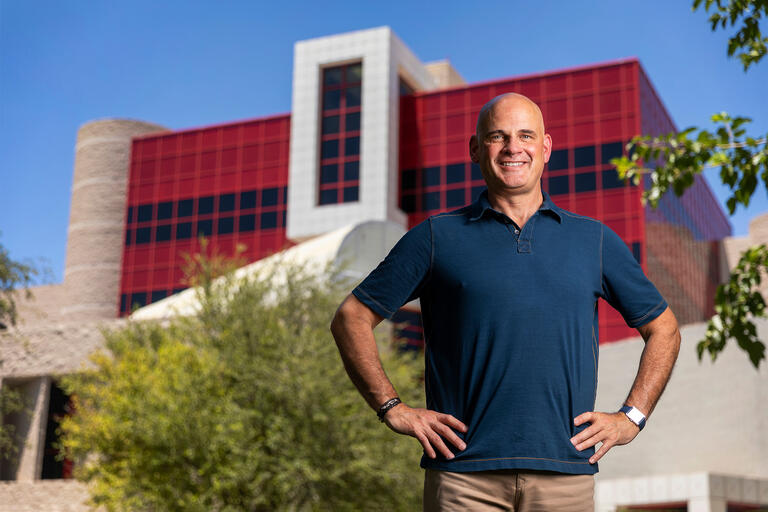 Portrait of Steven Palazzo, the UNLV Schoool of Nursing's new associate dean for academic affairs